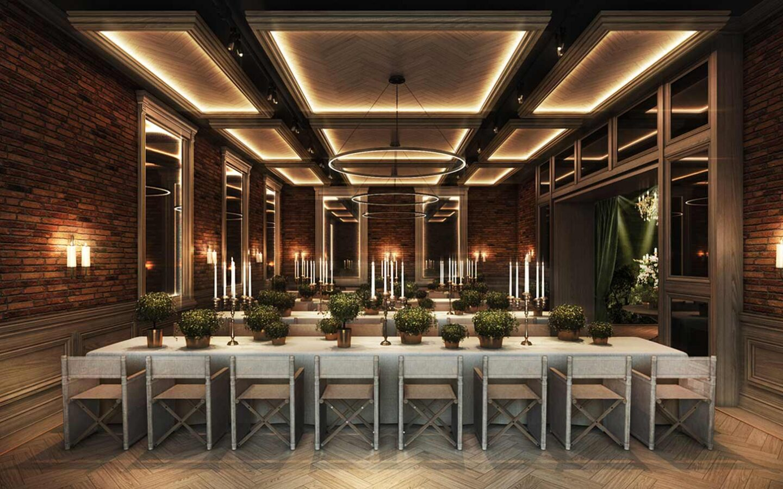 rendering of wedding venue reception dining area